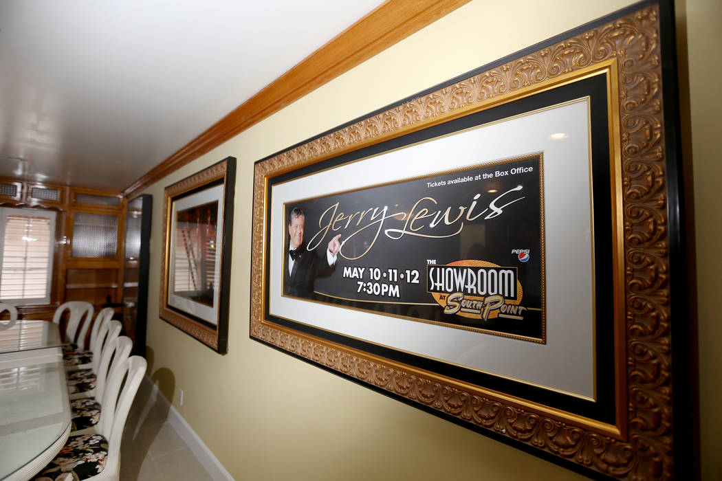 Original pictures at the former home of Jerry Lewis in Las Vegas, Wednesday, May 15, 2019. (Rac ...