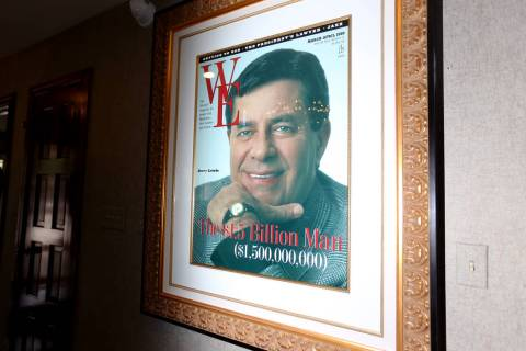 An original picture at the former home of Jerry Lewis in Las Vegas, Wednesday, May 15, 2019. (R ...