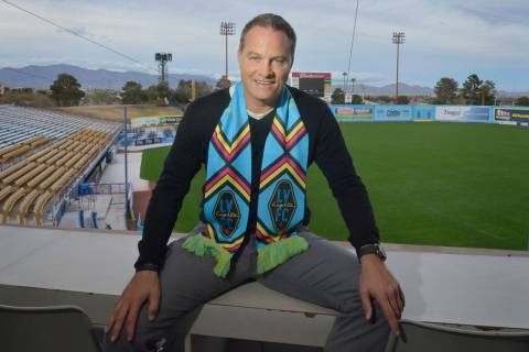 Las Vegas Lights FC head coach Eric Wynalda is shown at Cashman Field at 850 N. Las Vegas Blvd. ...