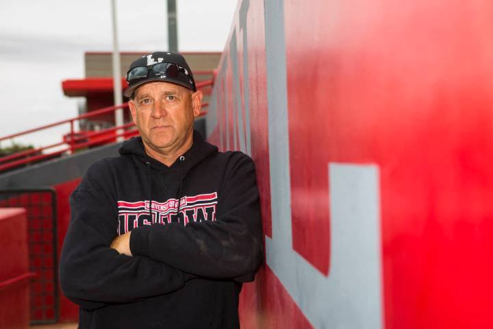 UNLV baseball coach Stan Stolte at Earl E. Wilson Stadium at UNLV in Las Vegas on Wednesday, Ma ...