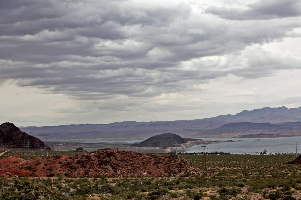 Lake Mead in Boulder City, Sunday, May 26, 2019. Gusty winds and a chance for storms will conti ...