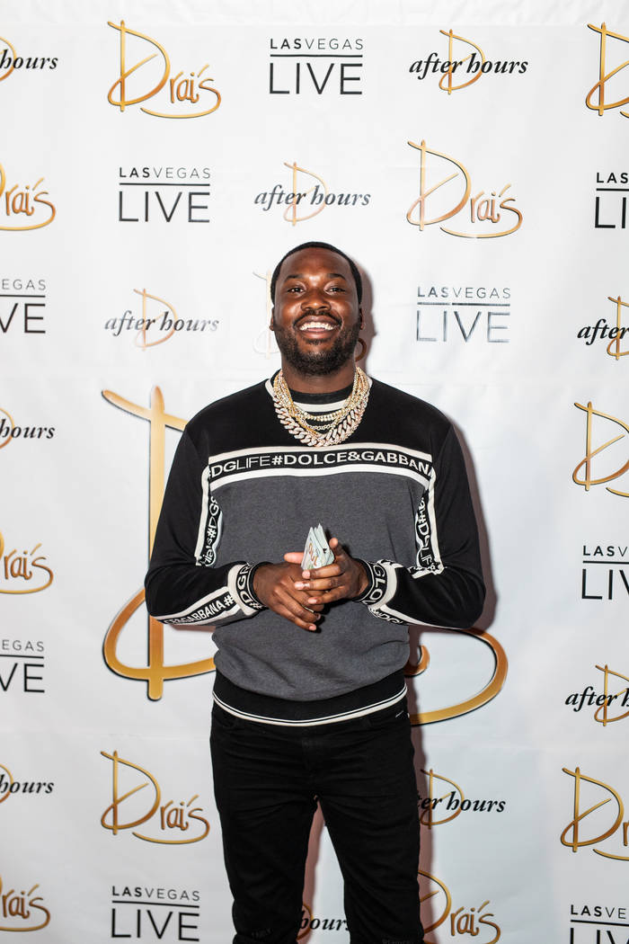 Rapper Meek Mill is shown on the red carpet prior to his residency debut at Drai's Nightclub at ...