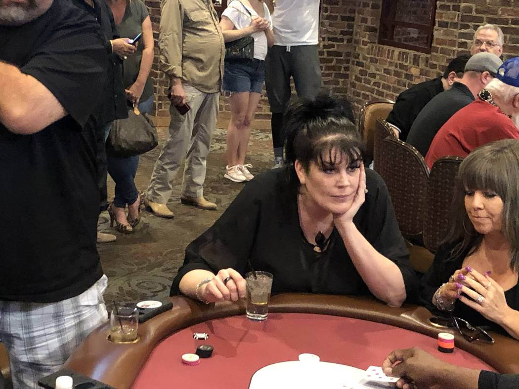 Famed entertainer Anastasia Synn is shown at the annual U.S. Vets Celebrity Poker Tournament at ...