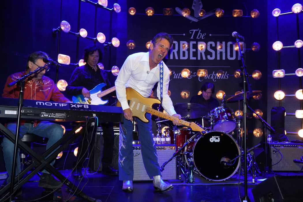 Dennis Quaid and The Sharks Perform at The Barbershop Cuts & Cocktails at The Cosmopolitan of L ...