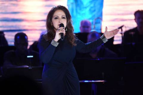 Singer Gloria Estefan performs at the Statue of Liberty Museum opening celebration at Battery P ...