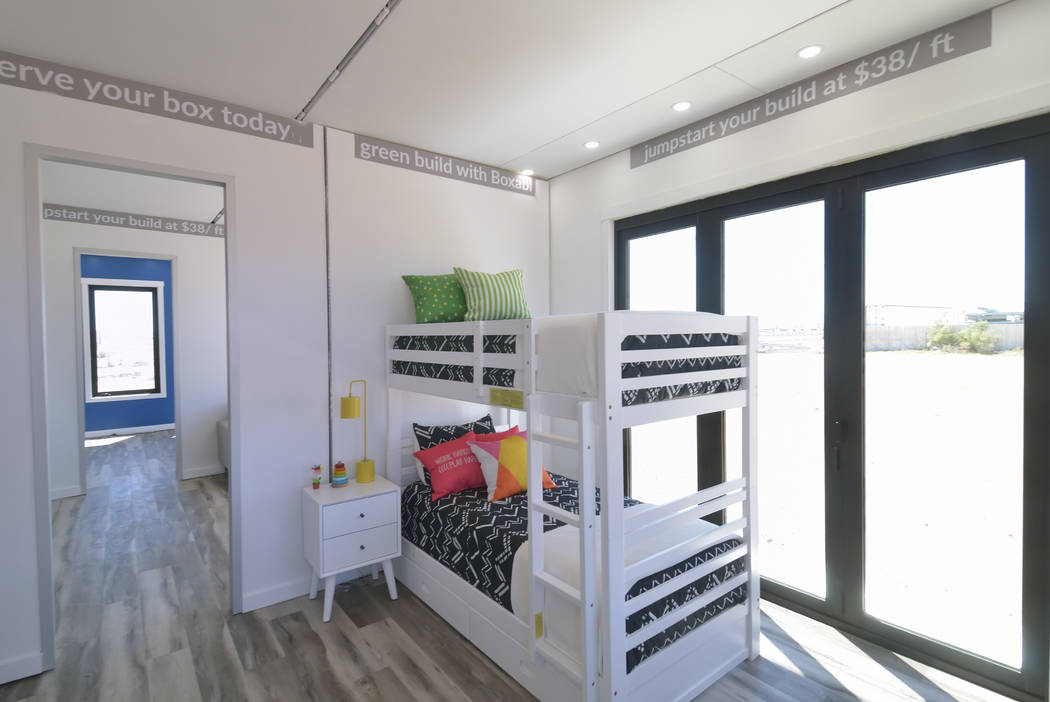 Part of the interior of a Boxabl home is shown in a lot near the company offices at 6120 N. Hol ...