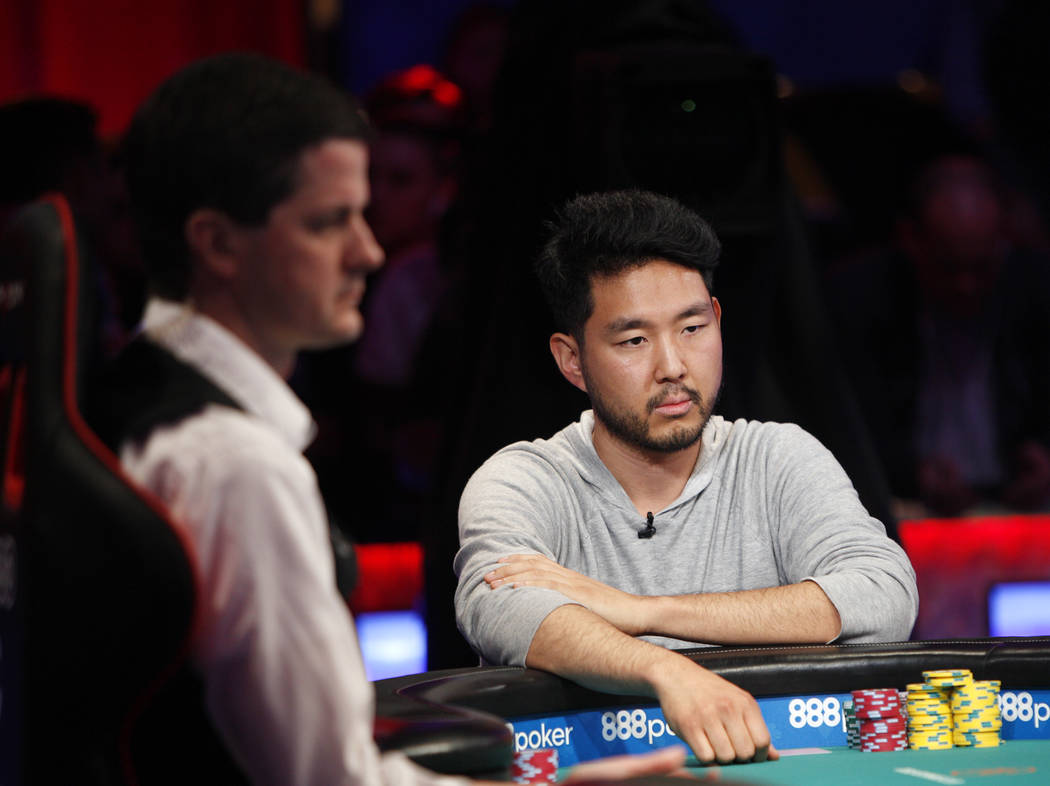 John Cynn during the eighth day of the World Series of Poker tournament at the Rio Convention C ...