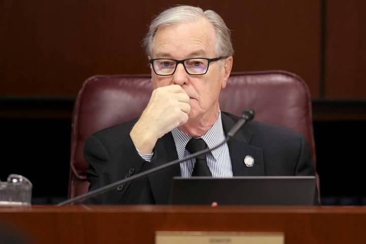 Sen. David Parks, D-Las Vegas, in the Legislative Building in Carson City Wednesday, Feb. 6, 20 ...