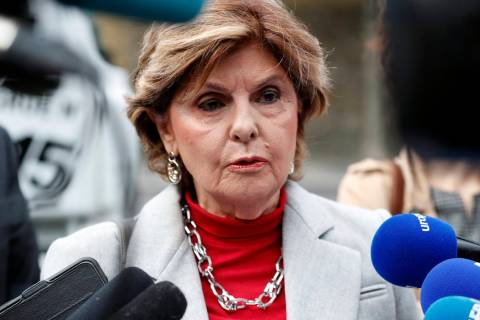 American lawyer Gloria Allred gives a press conference, in Paris, Tuesday, May 28, 2019. The la ...
