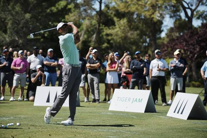 Tiger Woods held his Tiger Jam clinic and fundraiser at Shadow Creek and called the recent $85, ...