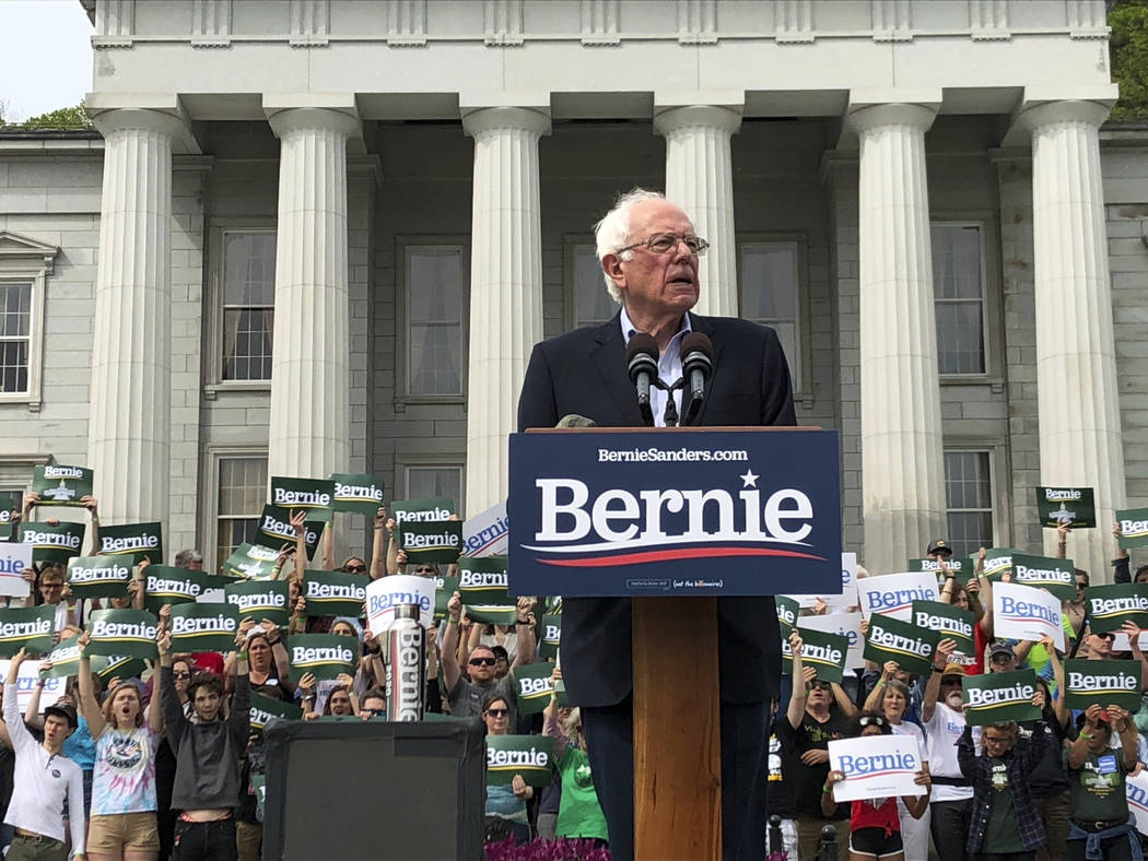 Presidential hopeful Sen. Bernie Sanders held his first home state rally of his 2020 campaign o ...