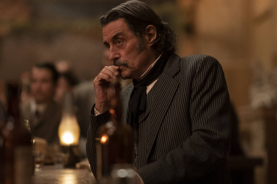 "Ian McShane in ""Deadwood: The Movie."" (Warrick Page/HBO)"