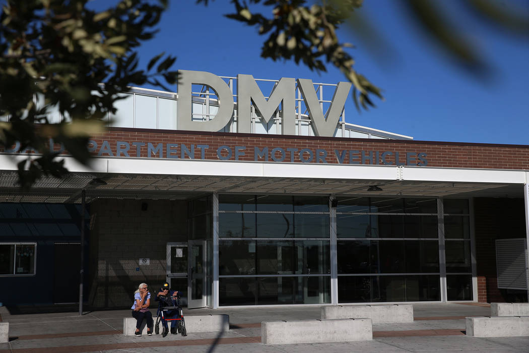 The Nevada Department of Motor Vehicles on East Sahara Avenue in Las Vegas, on Thursday, Jan. 1 ...