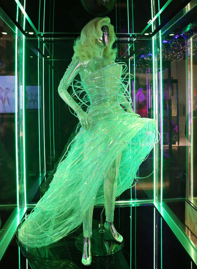 "Custom ""ORB"" dress worn by Lady Gaga is displayed at Haus of Gaga store during a medi ..."