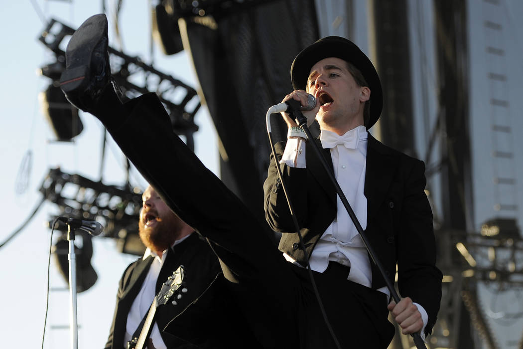 Pelle Almqvist of The Hives performs during the band's set on the first weekend of the 2012 Coa ...