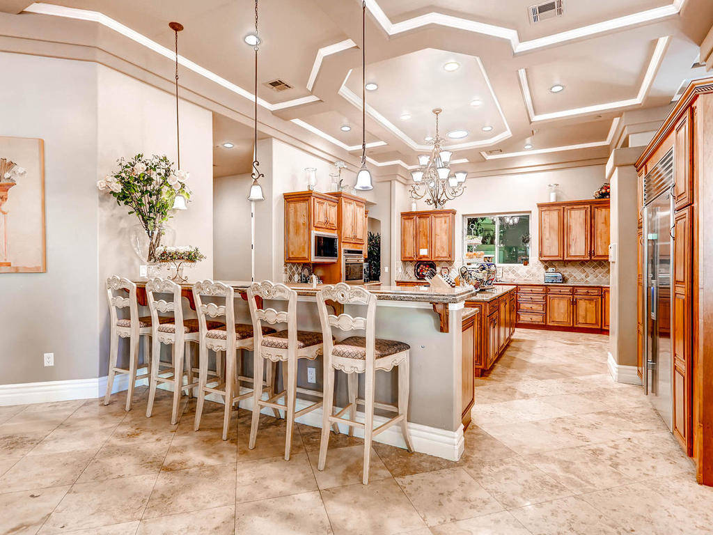 The home at 4 Chartiers Court in Henderson, seen here, has a rental price of $20,000 per month. ...