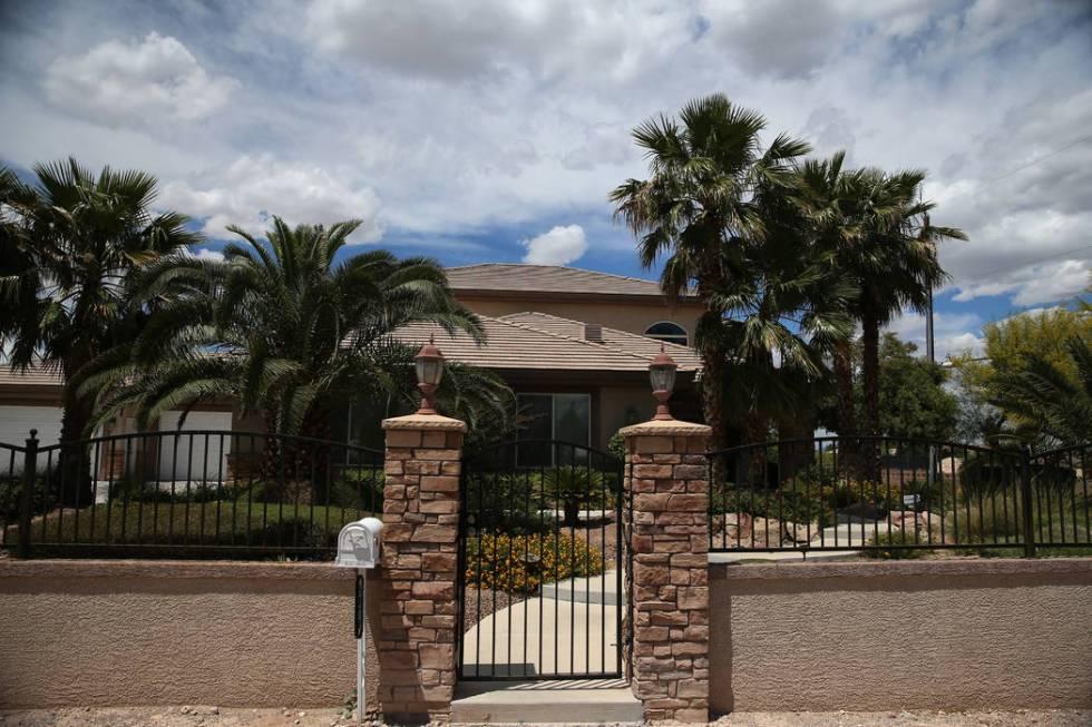 The home at 5870 W. Oquendo Road in Las Vegas, Tuesday, May 28, 2019. (Erik Verduzco / Las Vega ...