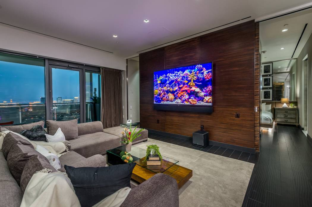 A penthouse at Palms Place in Las Vegas, seen here, has a rental price of $25,000 per month. (C ...