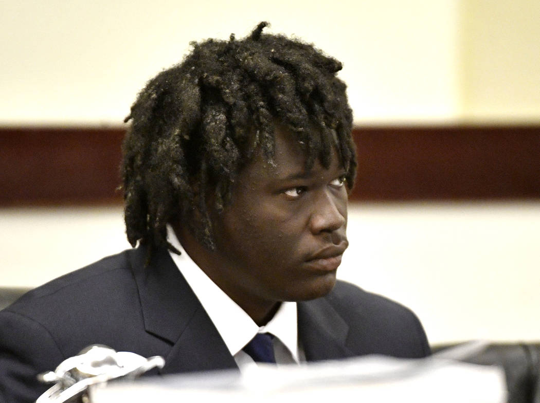 Emanuel Samson listens to testimony during the sentencing phase of his trial Tuesday, May 28, 2 ...
