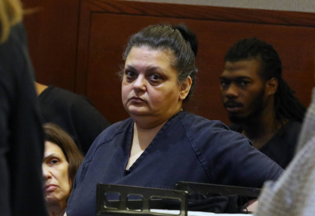Sherry Marks, appears in court during her preliminary hearing at the Regional Justice Center on ...