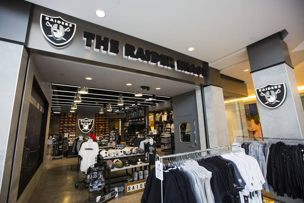 A view of The Raider Image store at the Galleria at Sunset mall in Henderson on Wednesday, May ...