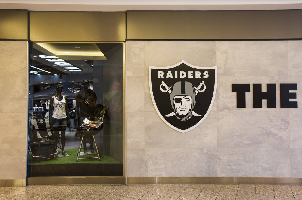 An exterior view of the The Raider Image store at the Galleria at Sunset mall in Henderson on W ...