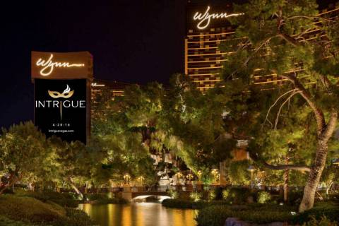Wynn Las Vegas' marquee advertises the opening of Intrigue nightclub in April 2016. (Courtesy)