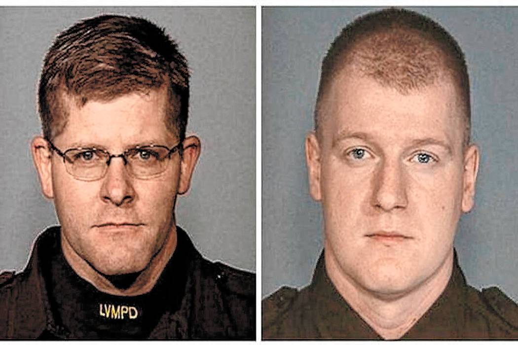 Las Vegas police officers Alyn Beck, left, and Igor Soldo were killed during an ambush at a Cic ...