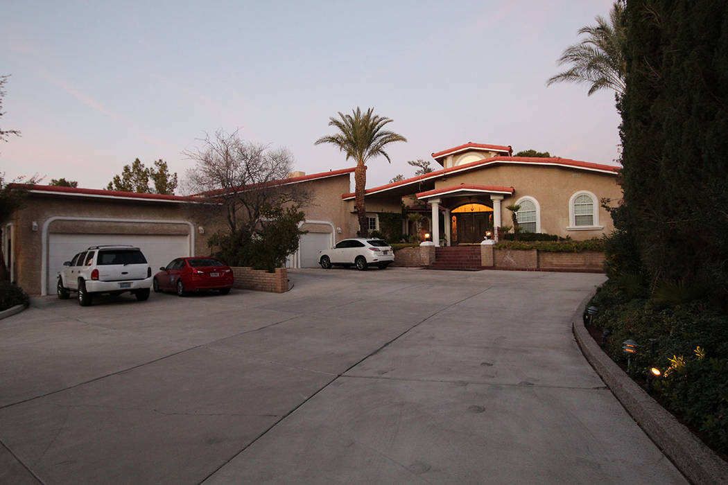 The home has two garages with room for four cars. (Mt. Charleston Realty)