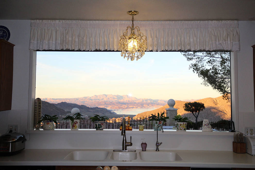 Mt. Charleston Realty Lake mead can be seen from the kitchen.