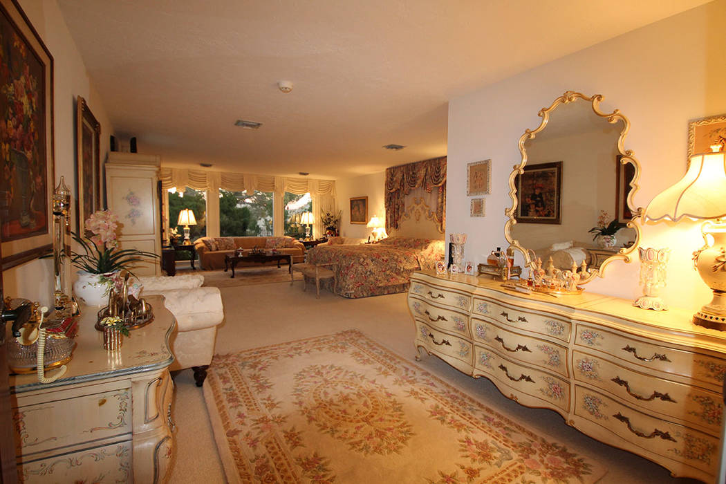 The master suite is large and traditional. (Mt. Charleston Realty)