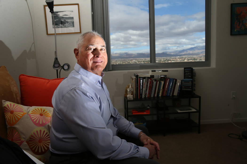Seth Morrison at his home in Las Vegas, Monday, May 27, 2019. Morrison, who calls himself a com ...