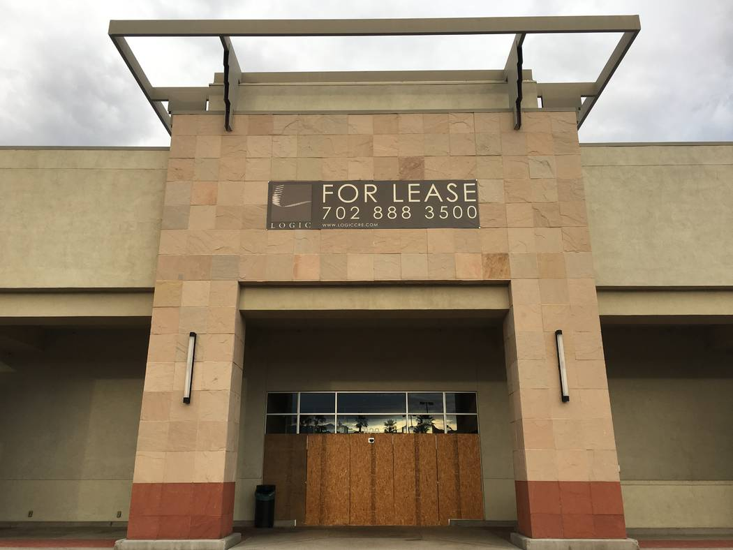 The empty former Haggen grocery store in Las Vegas' Boca Park shopping center is seen Tuesday, ...