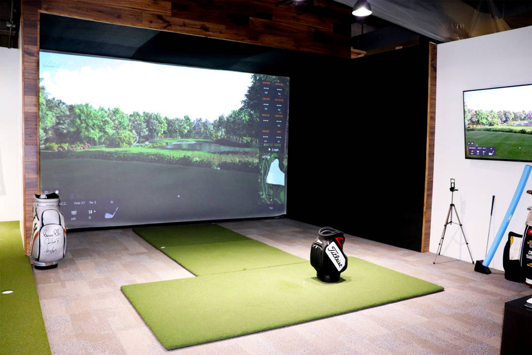 An indoor hitting bay with a TrackMan simulator is one of the newest additions to Reflection Ba ...