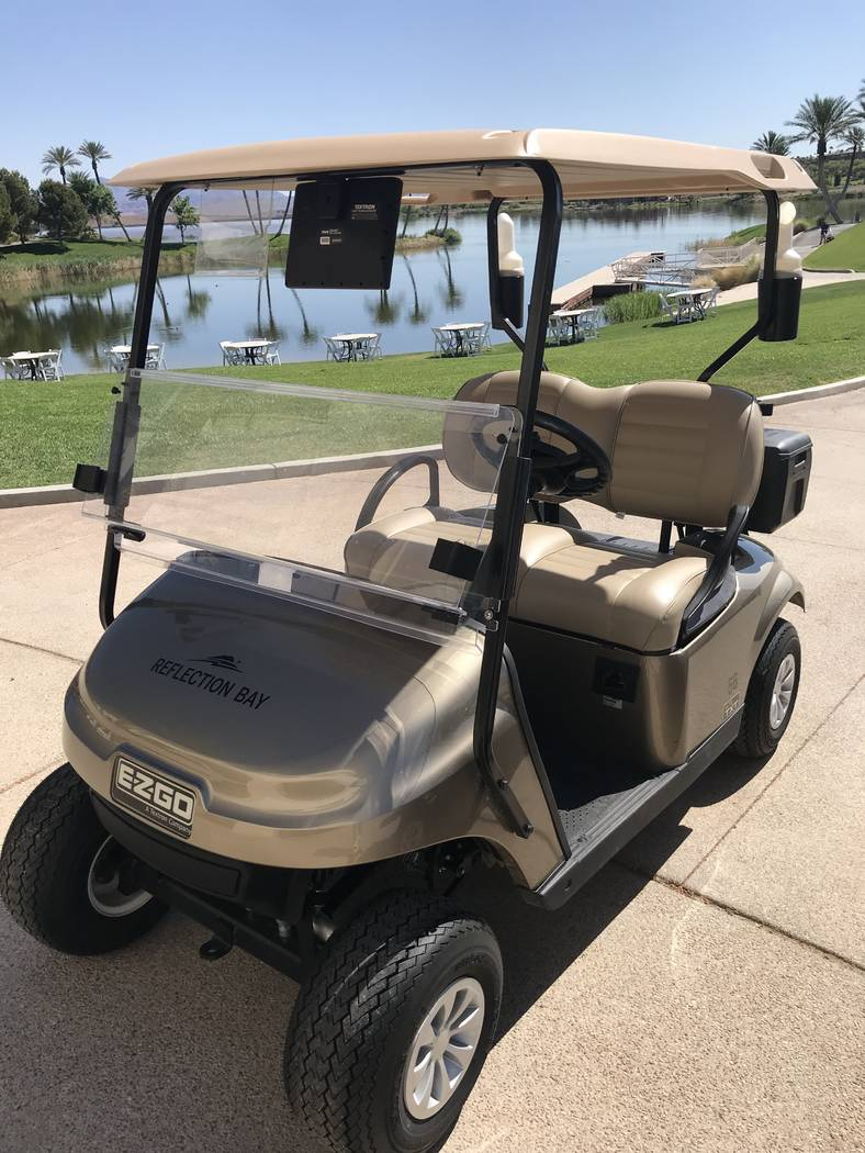 Reflection Bay Golf Club at Lake Las Vegas has added a fleet of 80 new E-Z-GO Lithium-powered g ...