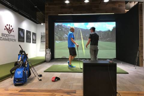 Reflection Bay Golf Club at Lake Las Vegas features an indoor hitting bay with a TrackMan simul ...