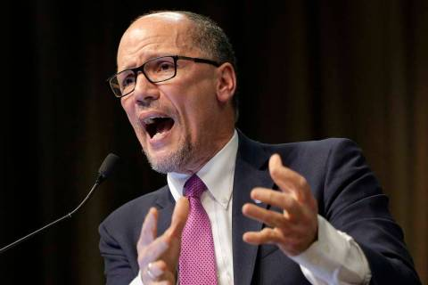 Tom Perez, chairman of the Democratic National Committee, is seen in an April 3, 2019. The DNC ...