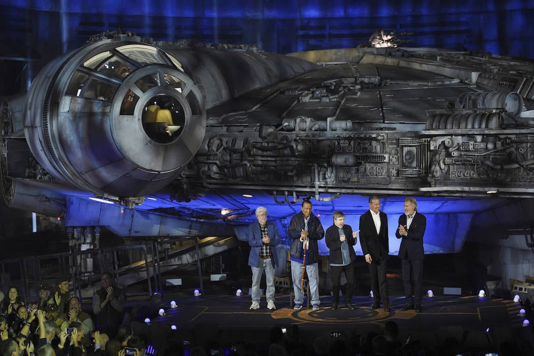 "From left, ""Star Wars"" film franchise creator George Lucas, cast members Billy Dee Wi ..."