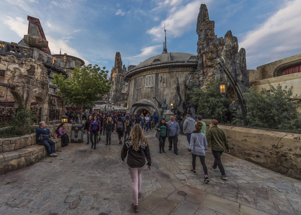 Star Wars: Galaxy's Edge at Disneyland Park in Anaheim, California, and at Disney's Hollywood S ...