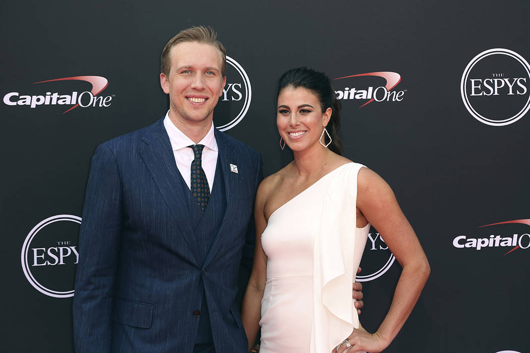 FILE - In this Wednesday, July 18, 2018 file photo, Philadelphia Eagles' Nick Foles, left, and ...