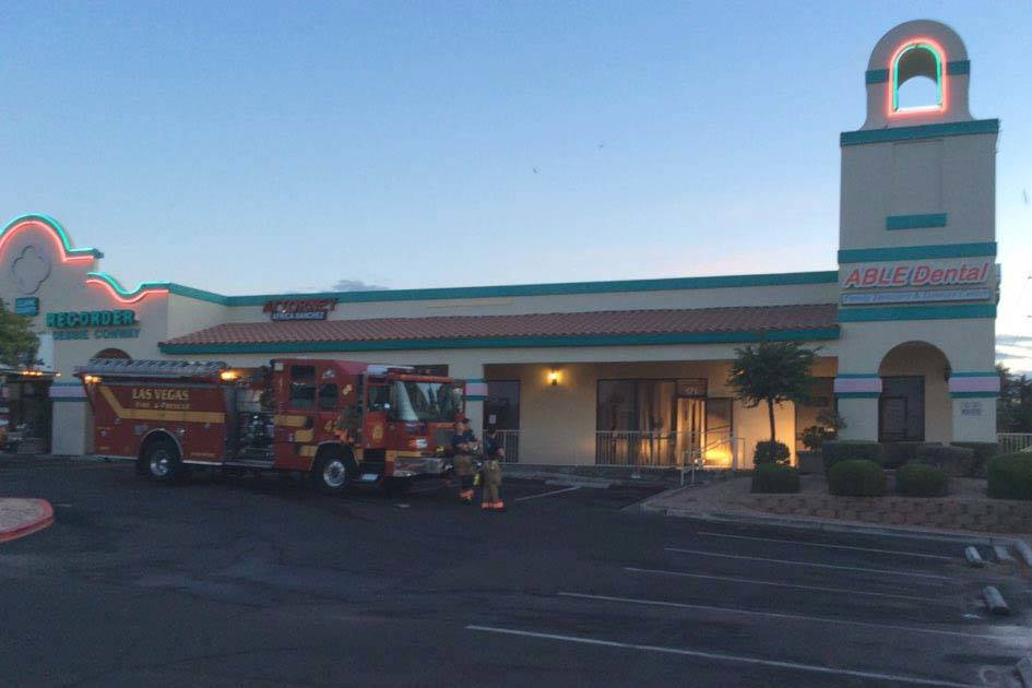 A fire in a dental office at 3211 N. Tenaya Way about 3 a.m. Thursday, May 30, 2019, is believe ...
