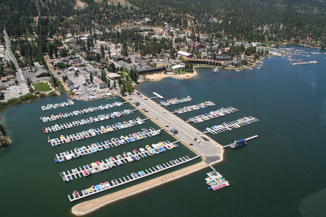 Big Bear Lake is about eight miles long and about one mile wide and offers 23 miles of shorelin ...