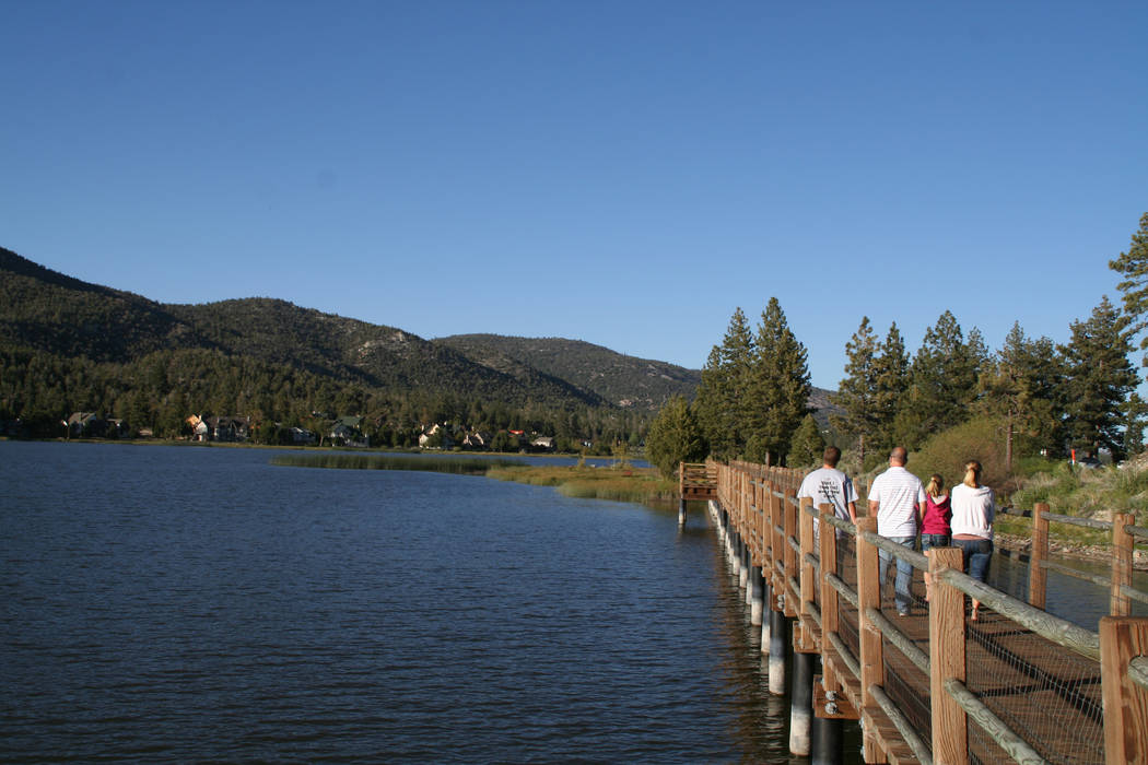 The Stanfield Preserve boardwalk makes for an easy stroll along the water. (Deborah Wall/Las Ve ...