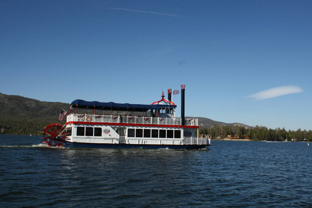 The Miss Liberty paddlewheel tour boat offers 90-minute fully narrated tours of Big Bear Lake. ...