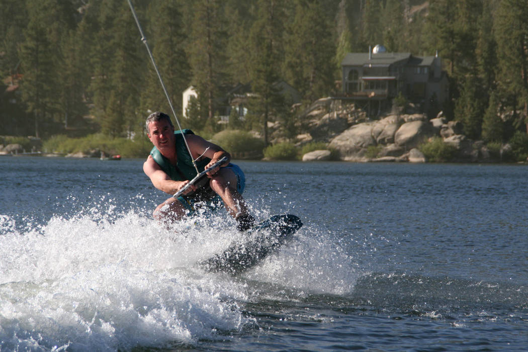 One popular activity for visitors is taking a wakeboard lesson on Big Bear Lake. (Deborah Wall/ ...