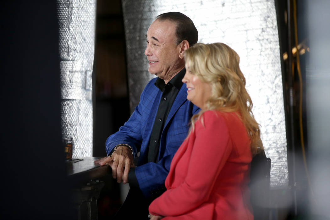 Bar Rescue host Jon Taffer and his wife Nicole Taffer between takes during filming at the Commo ...