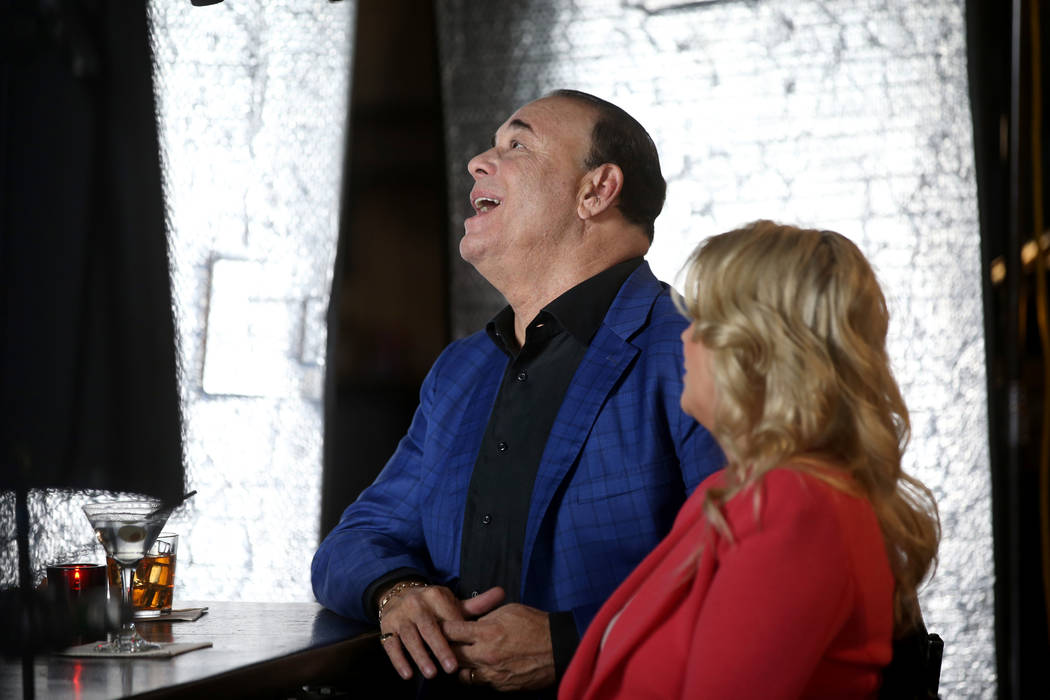 Bar Rescue host Jon Taffer and his, wife Nicole Taffer, between takes during filming at the Com ...
