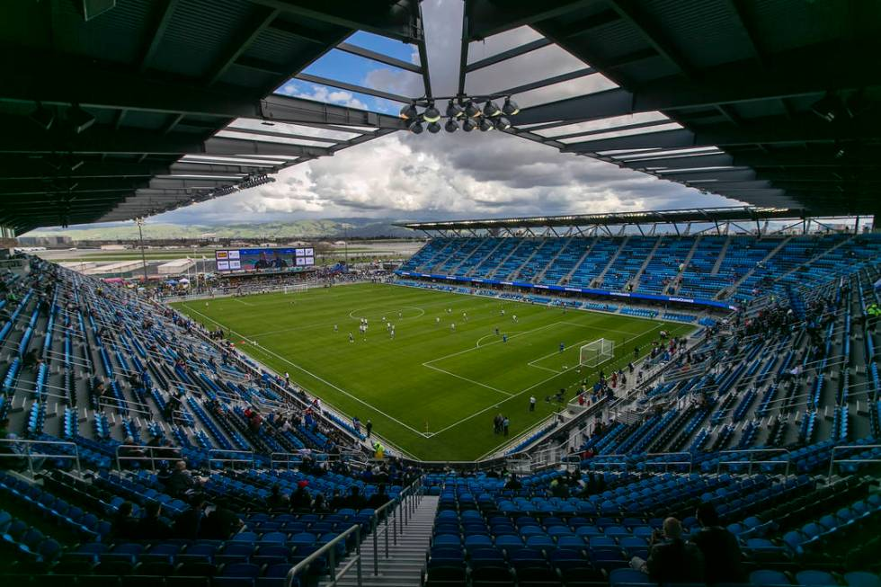 The new Avaya Stadium prior to the MLS soccer game between the San Jose Earthquakes and Los Ang ...