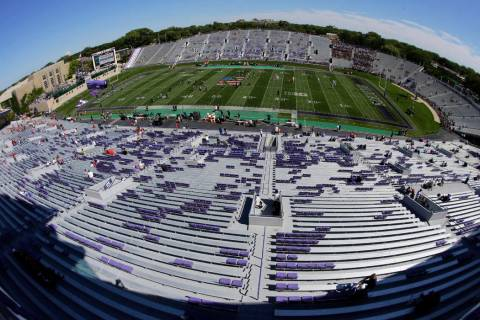 A general view of Northwestern Football Stadium is seen prior to an NCAA college football game ...