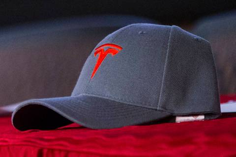A Tesla ballcap (Las Vegas Review-Journal)